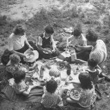 French Family During a Picnic