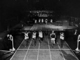 Triple Exposure of Start  Mid and Finish of 60 Yard Dash at Millrose Games
