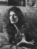 Feminist Author Germaine Greer Speaking in Serious Portrait