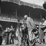 Ailing Babe Ruth Thanking Fans  Who Are Giving Him a Standing Ovation in Yankee Stadium