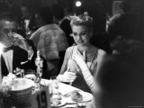 Grace Kelly Sitting at Romanoff&#39;s