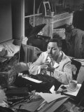 "Playwright Tennessee Williams  Working on a New Play  with Success of ""A Streetcar Named Desire"""