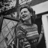 Deborah Kerr at the Drawing Room Window of Her Home
