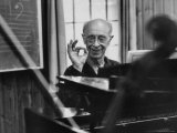 Pianist Rudolf Serkin Signifying Approval to Unseen Class He is Conducting