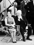 Princess Margaret with Film Producer Alfred Hitchcock at Universal City Studios