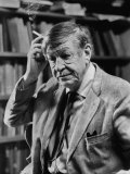 Poet  W H Auden  Sitting in Library at Home