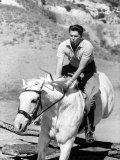 Ronald W Reagan Jumping His Horse on Ranch
