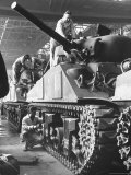 Sherman M4 Tank on Assembly at a Chrysler Plant