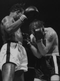 Kid Gavilan and Bobo Olson  Fighting for Middle Weight Title  at Chicago Stadium