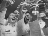 """US Marine Lieutenants at Formal """"Mess Night"""" Social Affair Marks End of Officers Basic Course"""