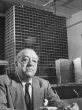 Architect Mies Van Der Rohe Sitting in Front of Building Model He Designed