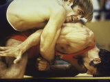 US Wrestler and Eventual Gold Medal Winner Wayne Wells at Olympics 1972