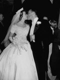 Wedding of Mary Freeman  Champion Swimmer  and John Kelly Kissing
