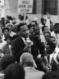 Rev Martin Luther King  Jr Leading Negro Demonstration for Strong Civil Rights