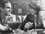 "Film Director Francois Truffaut with Actress Julie Christie During Filming of ""Fahrenheit 451"""