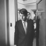 Campaign Manager Robert F Kennedy Leaving Hotel Room