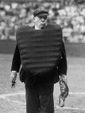 Umpire Bill Summers Glaring Toward Cleveland Indians Dugout