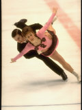 Irina Rodniva Skating with Partner Aleksei Ulanov  1972 Winter Olympics