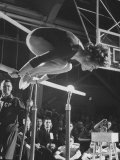 Soviet Gymnast Larisa Latnina in US Soviet Meet at West Chester State Teachers&#39; College