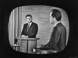 Presidential Candidate Richard M Nixon Speaking During a Televised Debate