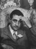Dr Edward Teller Slumped in Chair After Speech at Conference Hall