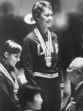 Cathy Ferguson Smiling Being Awarded the Gold Medal at Summer Olympic Games