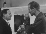 Paul Newman Talking to Playwright Tennessee Williams