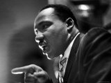 Rev Martin Luther King Jr Speaking in First Baptist Church at Rally for Freedom Riders