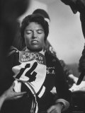 Skier  Linda Meyers During Winter Olympics