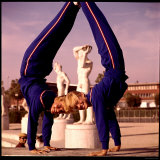 USA Gymnasts Doris Fuchs and Sharon Richardson Frolic in Rome's Stadio Dei Marmi