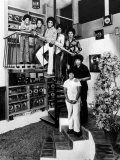 Jackson Five Michael  Marlon  Tito  Jermaine  and Jackie  with Parents Joe and Katherine Jackson