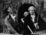 Richard Chamberlain and Michael Redgrave During the Filming of Hamlet