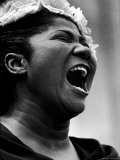 Gospel Singer Mahalia Jackson Singing at 'Prayer Pilgrimage for Freedom'