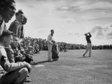 Scene from the British Open  with Spectators Watching Ben Hogan