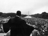 Reverend Martin Luther King Jr Speaking at 'Prayer Pilgrimage for Freedom' at Lincoln Memorial
