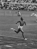 US Sprinter  Wilma Rudolph  Winning Women's 100 Meter Dash in Olympics