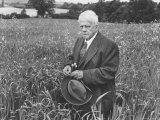 American Poet  Robert Frost Standing in Meadow During Visit to the Gloucester Area of England