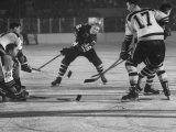 Black Hawks Player Bobby Hull in Game Against Montreal Canadians