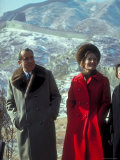 President Richard Nixon and First Lady Pat Nixon on the Great Wall of China