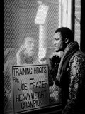 Boxer Muhammad Ali Taunting Rival Joe Frazier at Frazier&#39;s Training Headquarters