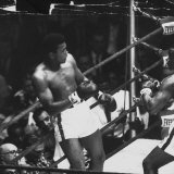 Boxer Cassius M Clay  During World Championship with Sonny Liston