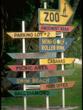Signs Pointing Every Which Way  Key Biscayne  Florida