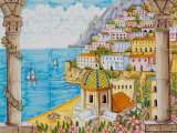 Ceramic Shop with Positano View Done in Tile  Positano  Amalfi  Campania  Italy