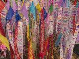 Praying Flags with Annual Calendar  Chiang Mai  Thailand