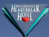 Sign for the Heartbreak Hotel  Memphis  Tennessee  USA