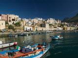 Town View from Port  Castellamare del Golfo  Scopello  Sicily  Italy