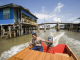 Floating Village Water Taxi  Kampong Ayer Water Village  Bandar Seri Begawan  Brunei