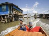 Floating Village Water Taxi  Kampong Ayer Water Village  Bandar Seri Begawan  Brunei