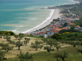 Resort Town and View of Adriatic Sea  Fossacesia Marina  Abruzzo  Italy