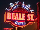 Neon Signs  Beale Street Entertainment Area  Memphis  Tennessee  USA